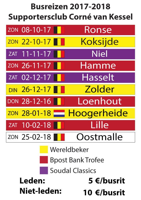 Busreizen 2016-2017